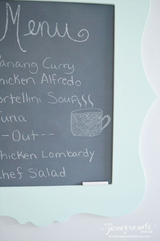 Magnetic Chalkboard Menu from Love, Pomegranate House