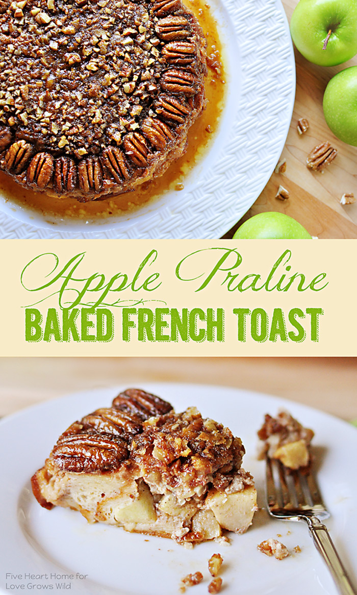 Apple Praline Baked French Toast