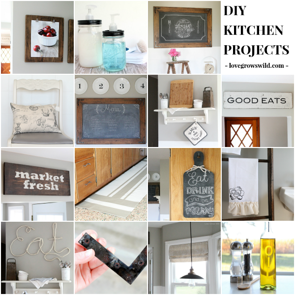 DIY Kitchen Projects at lovegrowswild.com