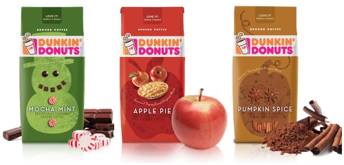 Celebrate the season with holiday coffee flavors from Dunkin' Donuts like Pumpkin Spice, Apple Pie, and Mocha Mint!