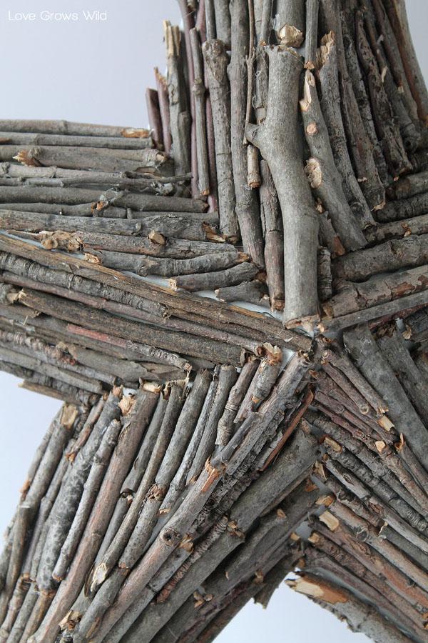 Wood Branch Rustic Star Decor