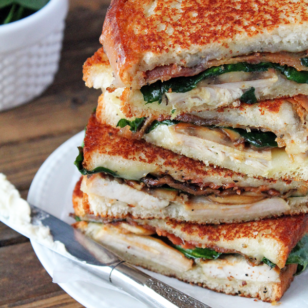 Grilled Turkey Florentine Sandwiches