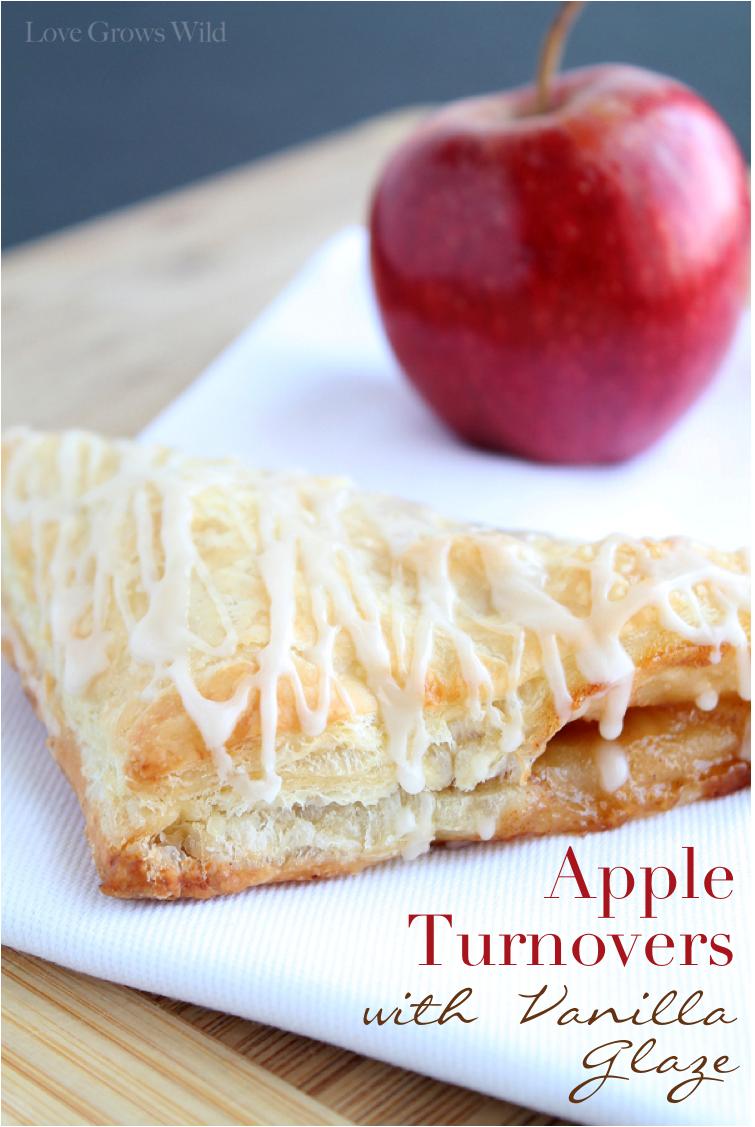 Apple Turnovers with Vanilla Glaze recipe