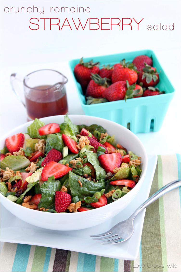 Crunchy Romaine Strawberry Salad recipe