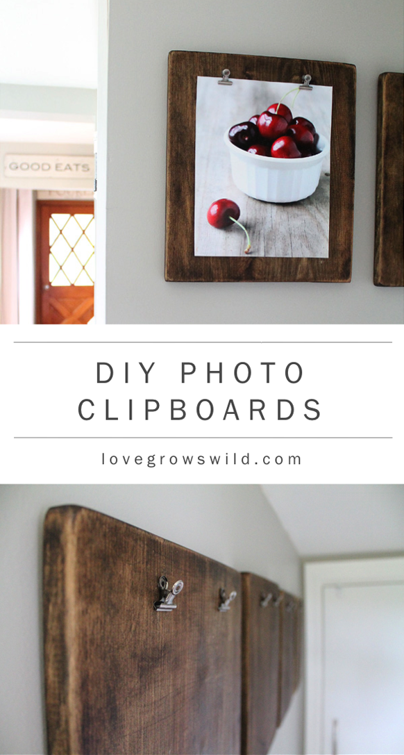 DIY Photo Clipboards
