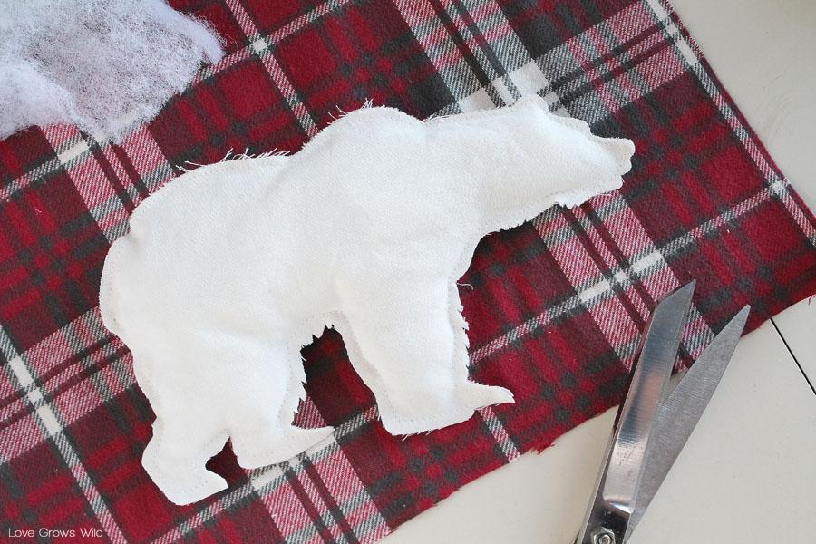 DIY Polar Bear Pillow Cover