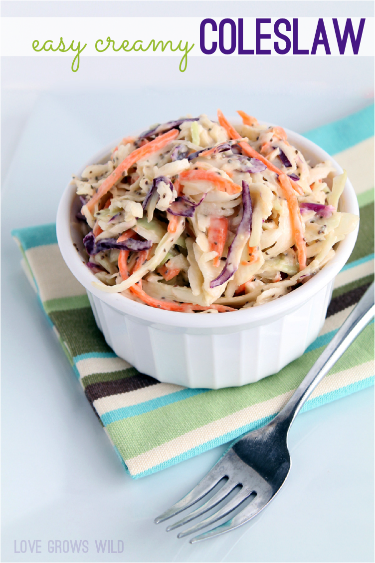 Easy Creamy Coleslaw Recipe