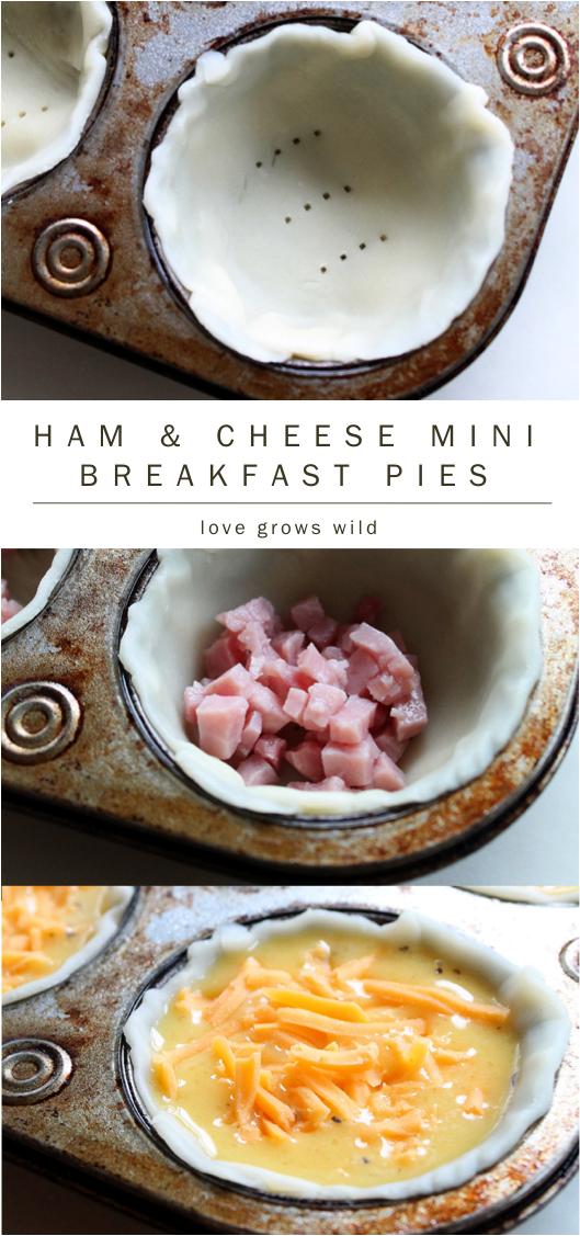 Ham and Cheese Mini Breakfast Pies recipe
