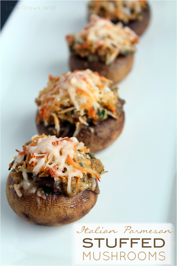 Italian Parmesan Stuffed Mushrooms