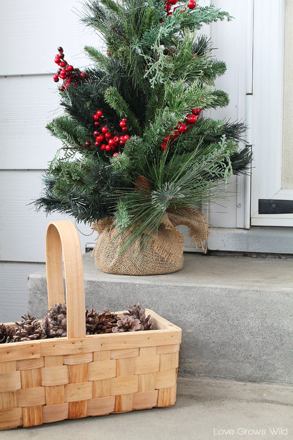 A basket of pinecones makes the perfect winter decor!
