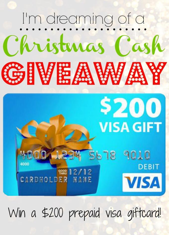 $200 Visa Christmas Cash Giveaway!