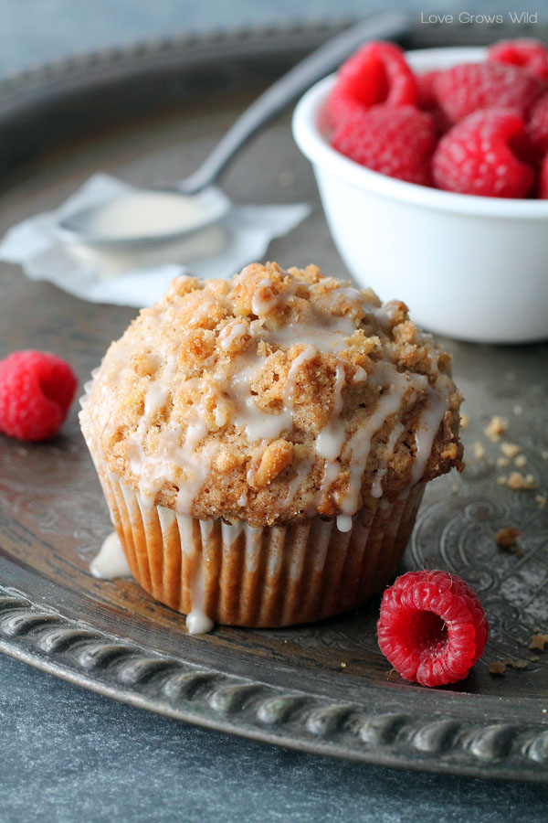 Delicious coffee cake turned into a muffin!
