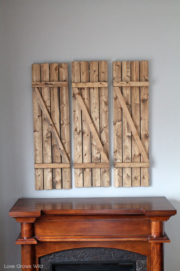 How to create DIY Barn Wood Shutters