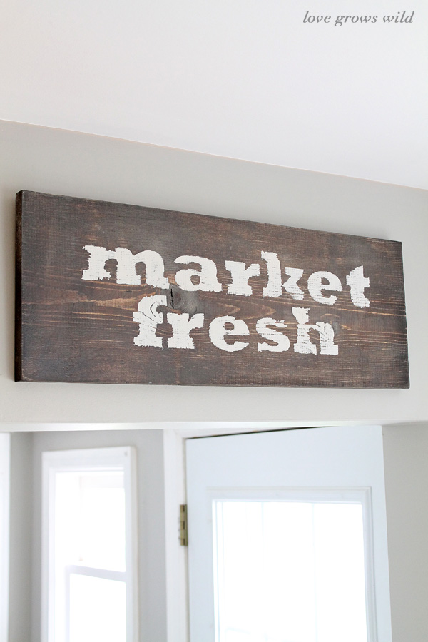 Rustic Wood Kitchen Sign
