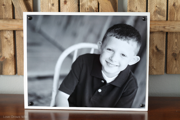 DIY Nailhead Photo Boards