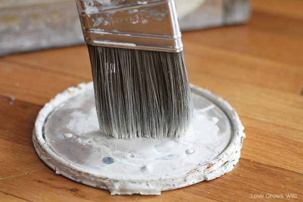 Learn this dry brushing paint technique for furniture and more! via LoveGrowsWild.com