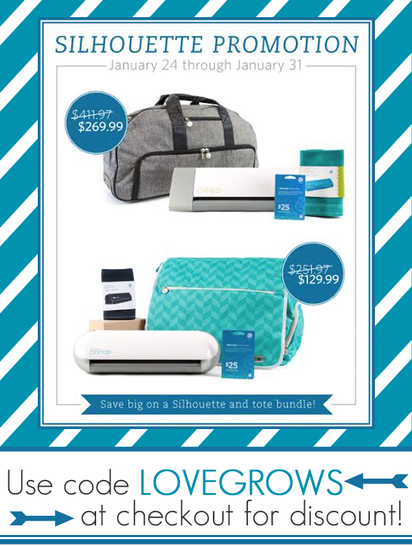 Silhouette Tote Bundle Promotion! Use code LOVEGROWS for exclusive discounts!
