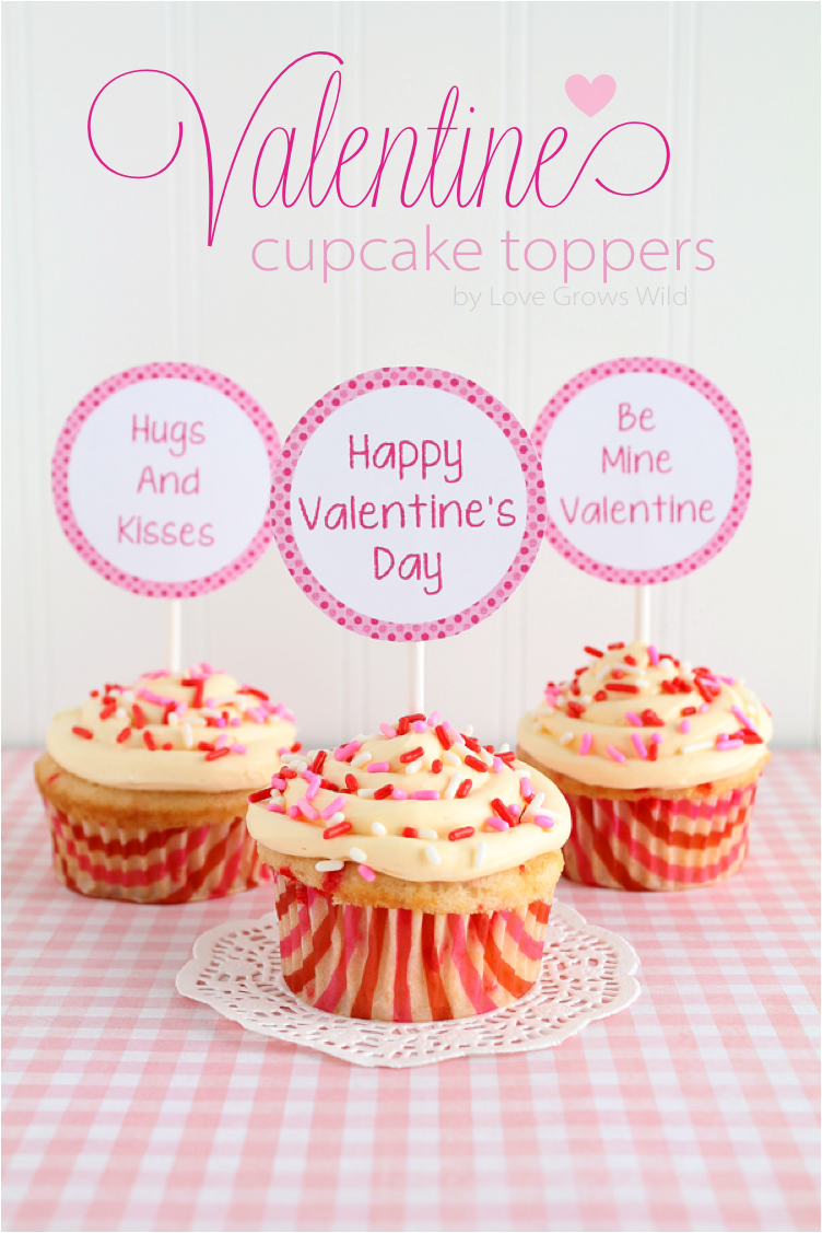 Free Printable Valentine Cupcake Toppers for Boys & Girls