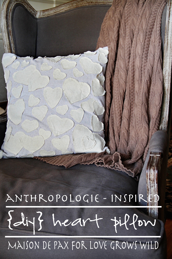 Anthropologie-Inspired DIY Heart Pillow