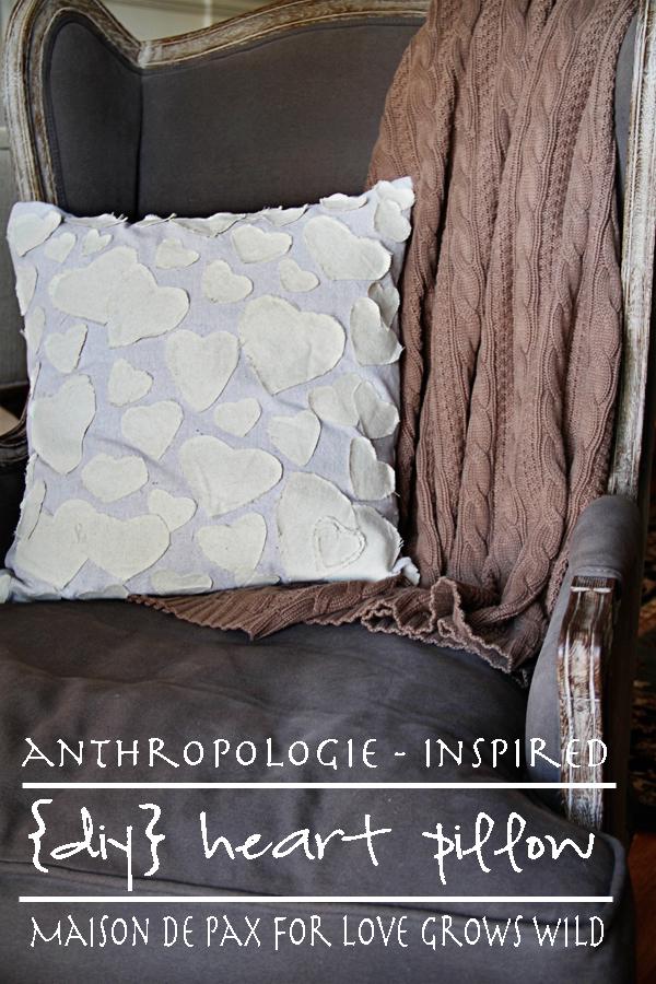 Anthropologie-Inspired DIY Heart Pillow