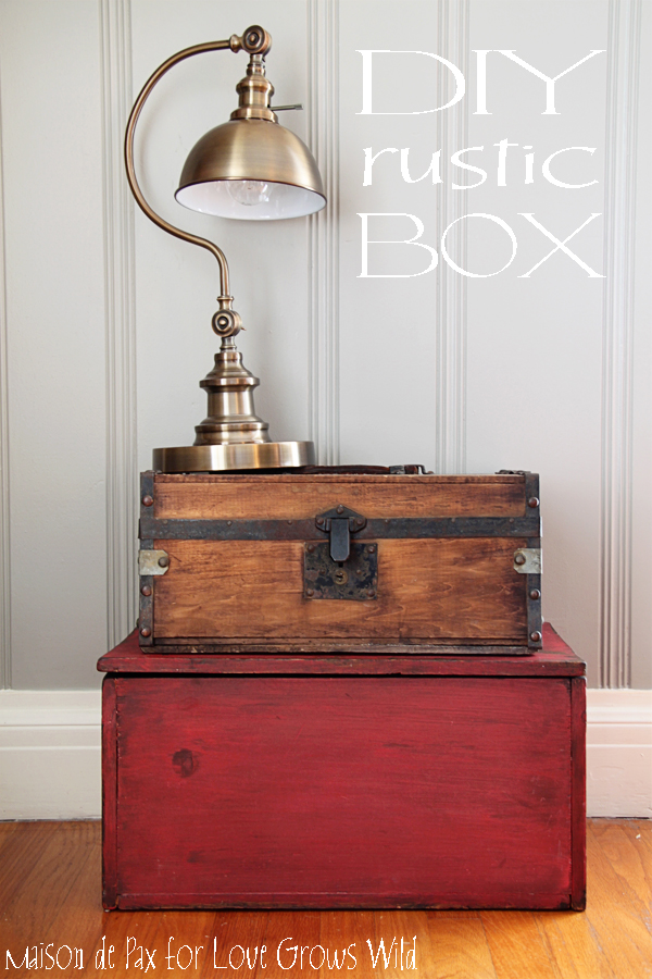 DIY Rustic Box - How to Achieve a Beautifully Aged Finish on Wood!