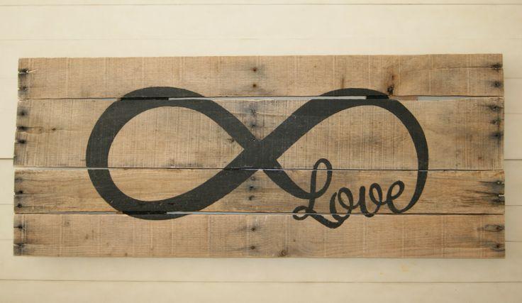 Love Infinity Pallet Art