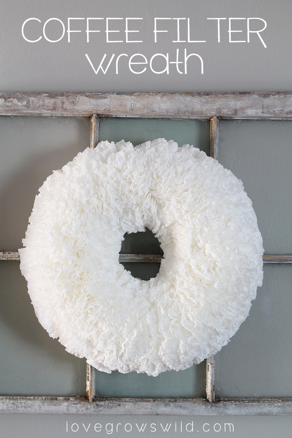 How to make a beautiful, ruffled Coffee Filter Wreath for easy and ...