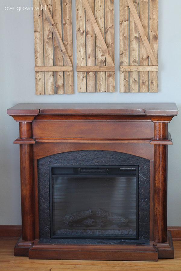 Two Tone Fireplace Makeover | LoveGrowsWild.com