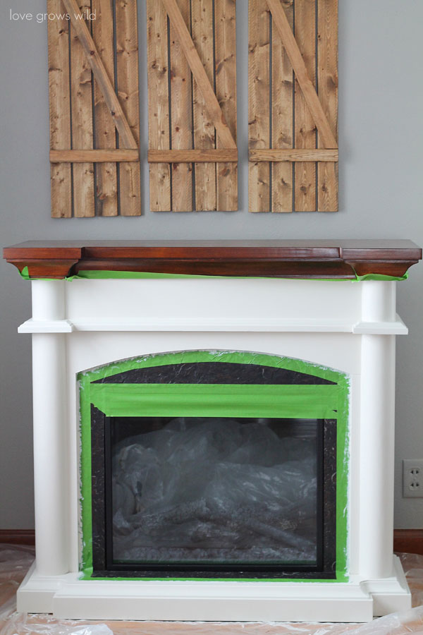Two Tone Fireplace Makeover | LoveGrowsWild.com