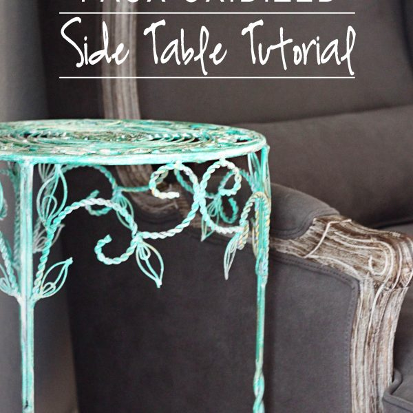 Faux Oxidized Side Table