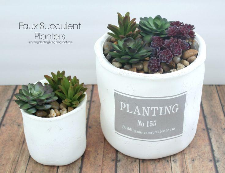 Faux Succulent Planters