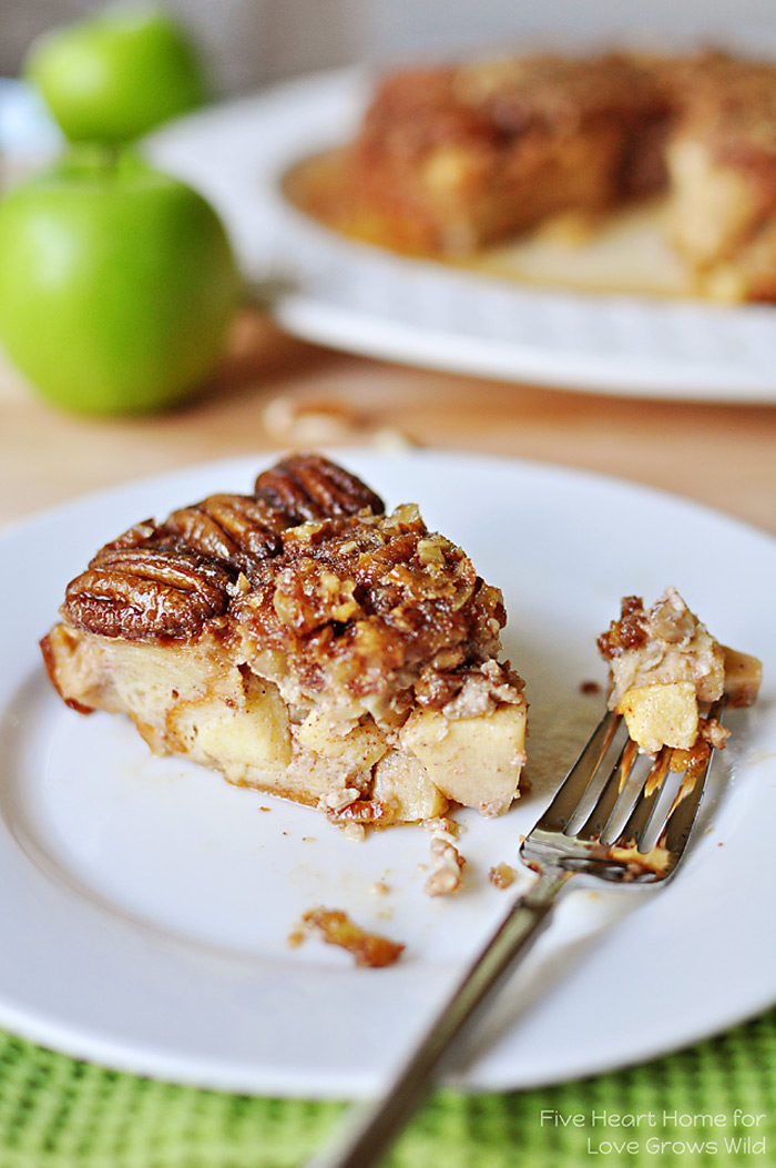 Apple Praline Baked French Toast | LoveGrowsWild.com