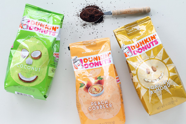 Try Dunkin' Donuts new spring coffee flavors!
