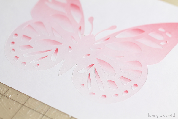 Ombre Butterfly Cut-out with Silhouette's Print & Cut Feature | LoveGrowsWild.com