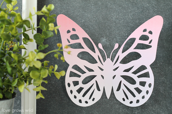 Framed Ombre Butterfly Art | LoveGrowsWild.com