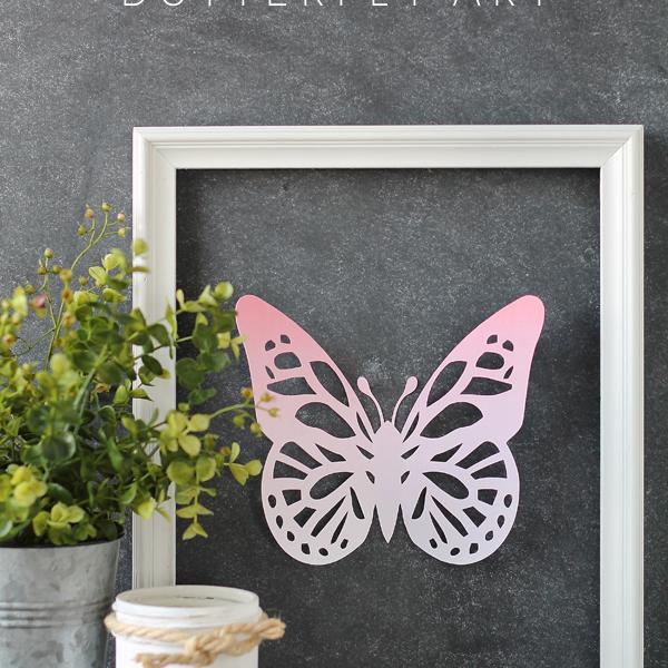 Framed Ombre Butterfly Art | LoveGrowsWild.com