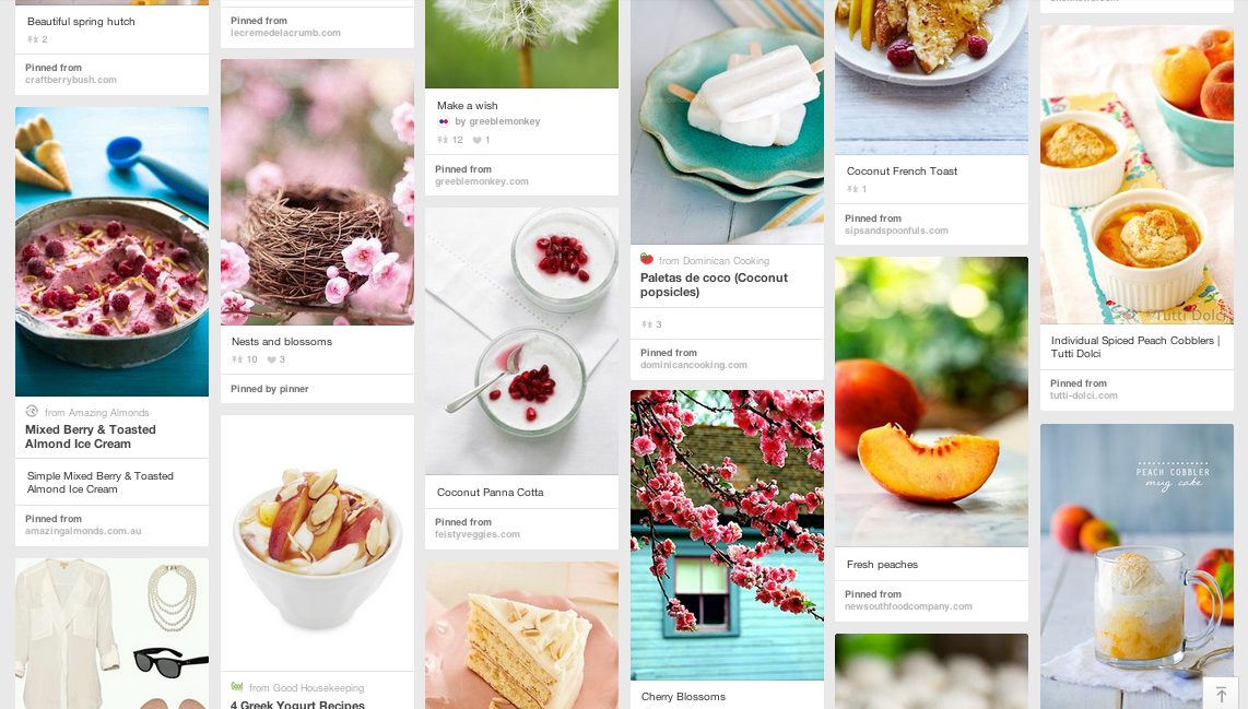 Inspired by Spring Pin Board