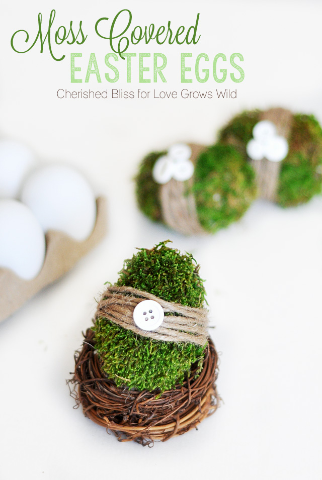 Moss Covered Easter Eggs | LoveGrowsWild.com