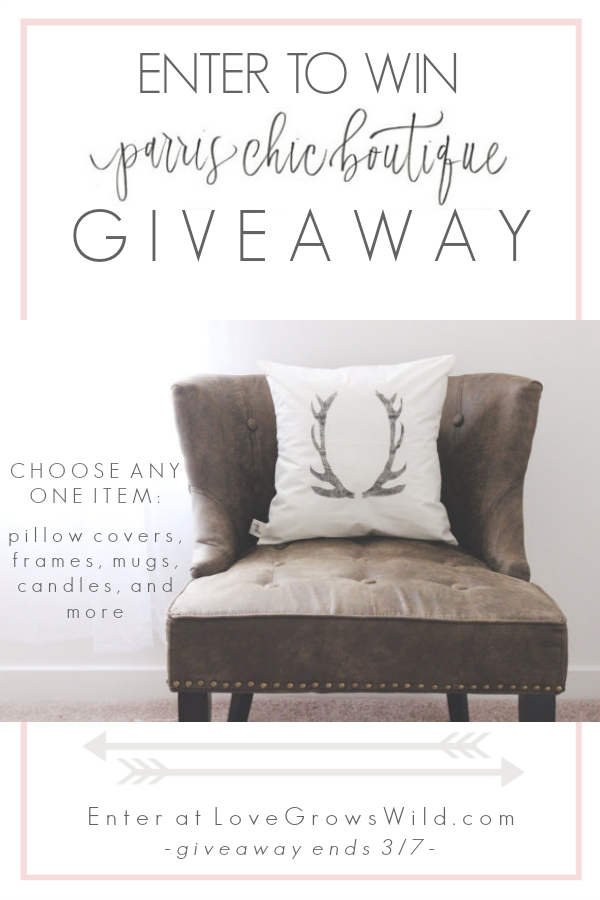 Enter to win any item from Parris Chic Boutique at LoveGrowsWild.com!