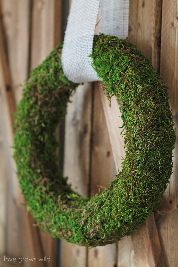 Moss-Covered Wreath by LoveGrowsWild.com