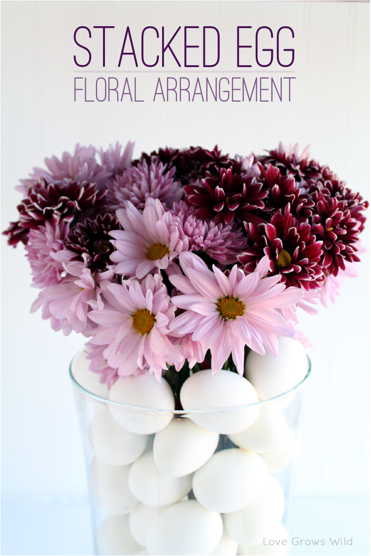 Stacked Egg Floral Arrangement | LoveGrowsWild.com