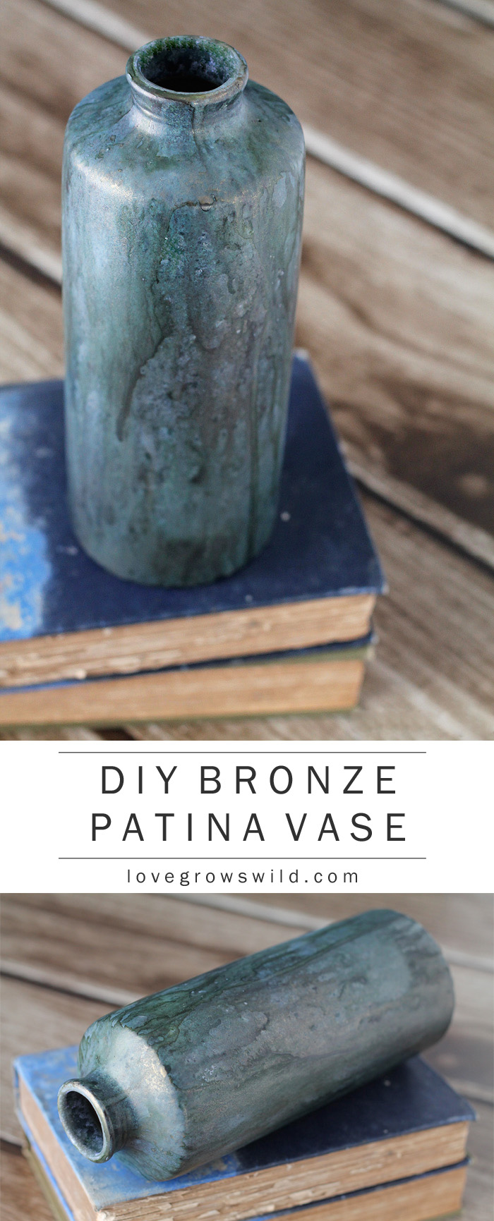Love this gorgeous bronze patina look! Find out how to DIY the patina at LoveGrowsWild.com