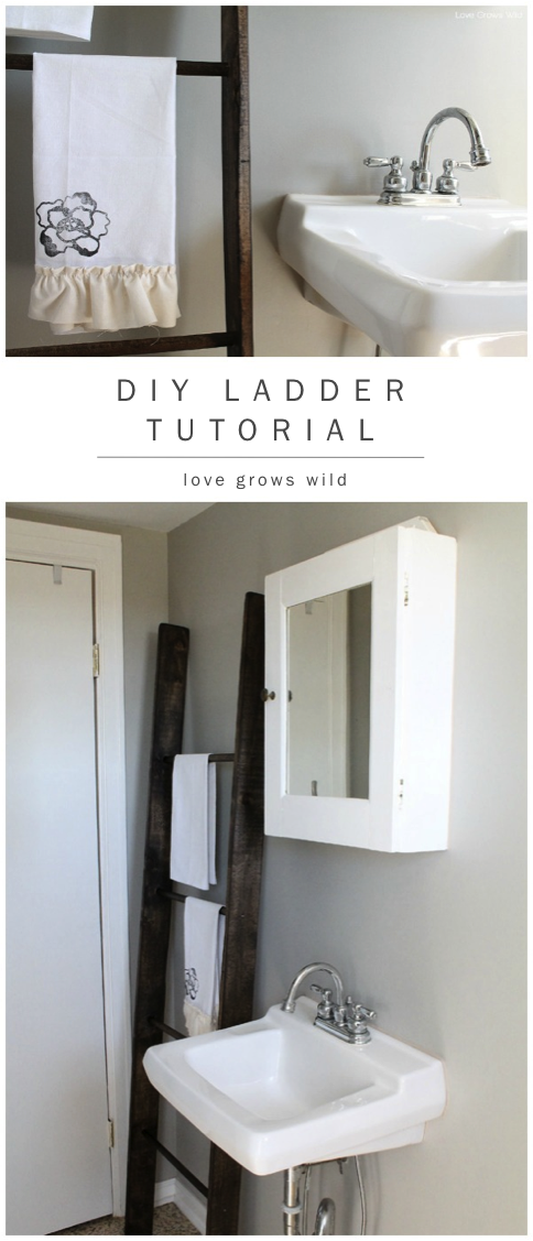 DIY Decorative Ladder Tutorial