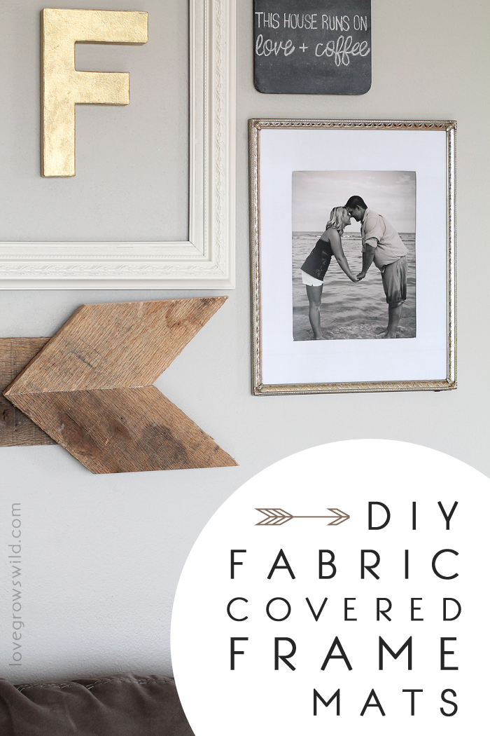 How to make Fabric Covered Frame Mats for SUPER cheap! I love this trick! at LoveGrowsWild.com