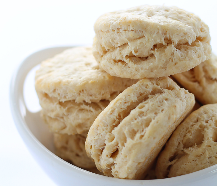 Tender, flaky biscuits are the perfect addition to any meal. This recipe gets a healthy boost from coconut oil in place of the butter! | LoveGrowsWild.com