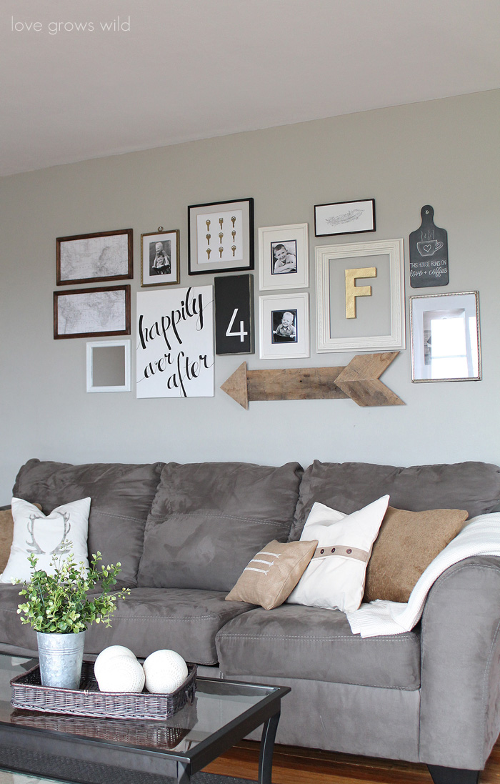 learn how to create a fun personal and creative gallery wall for less than - Wall Decorations For Living Room