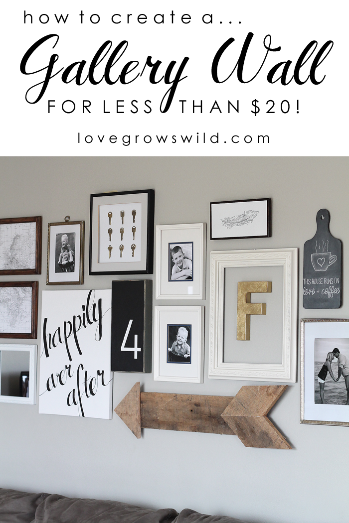 12 creative gallery walls for inspiration the crafting nook. Black Bedroom Furniture Sets. Home Design Ideas