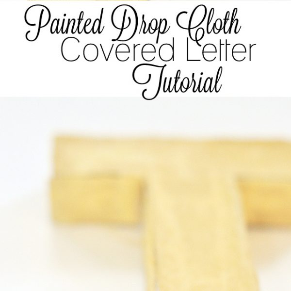 Painted Drop Cloth Covered Letter Tutorial | LoveGrowsWild.com