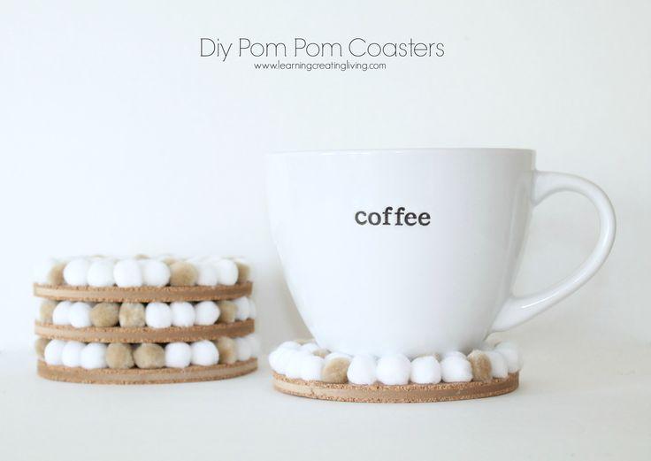 pom-pom-coasters