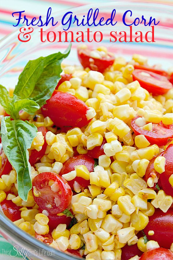 Fresh Grilled Corn and Tomato Salad